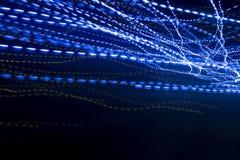 Blaulicht-Hintergeschwindigkeits-und Zusammenhang-Konzept-Hintergrund lizenzfreies stockbild