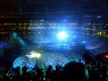 Blaulicht-Konzert Stockfotos