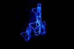 Blaulicht-Malerei Stockfoto
