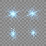 Blaulicht mit Staub vektor abbildung