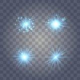 Blaulicht mit Staub stock abbildung