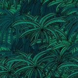 Blaulicht-Mond-Licht-Palmen vektor abbildung