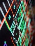 Blaupausen auf Bildschirm Stockfotos