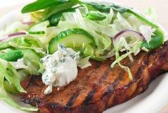 Blauschimmelkäse-Schweinekotelett Lizenzfreies Stockfoto