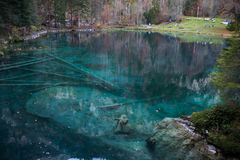 Blausee Blue Lake, Berner Oberland, Switzerland Royalty Free Stock Photo