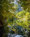 Blausee, Svizzera in autunno II Immagini Stock