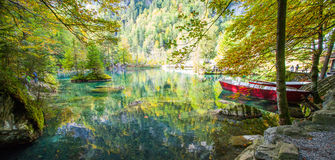Blausee, Switzerland in Autumn Stock Photography