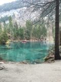 Blausee Zurich Schweiz Oberland. Blue lake Switzerland Stock Photography