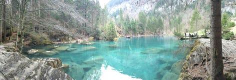 Blausee Zurigo Schweiz Oberland fotografia stock