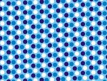 Blautapete Polcadot-Kunst 3 Farb lizenzfreie stockbilder