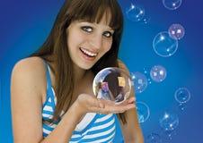 Blauw 1 stock afbeelding