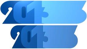 Blauw 2013 Stock Afbeeldingen