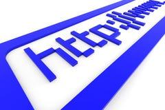 Blauw 3d adresHTTP www. Het concept van Internet. Stock Foto