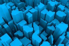 Blauw 3d patroon Stock Afbeeldingen