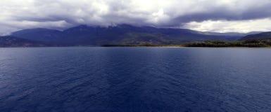 Blauw 9 van Ohrid stock afbeelding