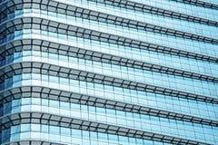 Blauw abstract achtergrond, glas en staal van de moderne bouw Royalty-vrije Stock Afbeelding