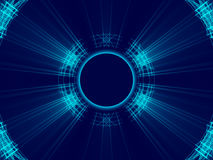 Blauw abstract achtergrond, lijnen en licht Royalty-vrije Stock Foto