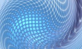 Blauw abstract beeld, fractal Stock Fotografie