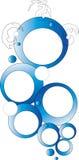 Blauw abstract cirkelontwerp royalty-vrije stock afbeelding