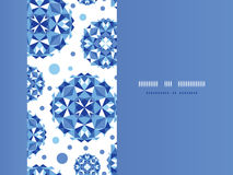 Blauw abstract cirkels horizontaal naadloos patroon Royalty-vrije Stock Foto