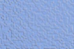 Blauw Abstract 3d Geometrisch Kubus Achtergrondontwerppatroon Stock Fotografie