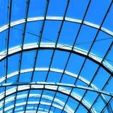 Blauw abstract dak binnen Royalty-vrije Stock Foto's