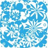 Blauw abstract flowersWhite blauw abstract bloemenpatroon Abstracte bloemenachtergrond Stock Fotografie