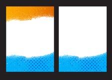 Blauw abstract lay-outmalplaatje met vierkanten Royalty-vrije Stock Foto