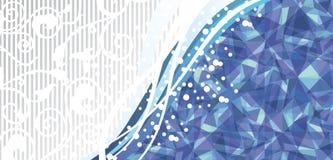 Blauw abstract malplaatje Royalty-vrije Stock Foto