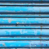 blauw abstract metaal in englan het traliewerkstaal van Londen en backgroun Stock Foto