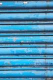 blauw abstract metaal in englan Londen Royalty-vrije Stock Afbeelding