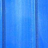 blauw abstract metaal op englan het traliewerkstaal en achtergrond van Londen Royalty-vrije Stock Foto
