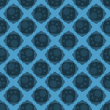 Blauw Abstract Naadloos Backgound-Patroon Stock Foto