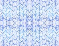 Blauw abstract naadloos patroon Stock Afbeelding
