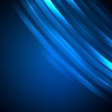 Blauw Abstract neon Als achtergrond Royalty-vrije Stock Afbeelding