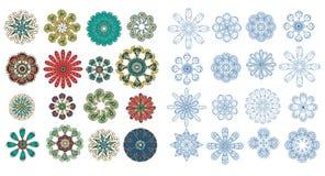 Blauw abstract ornament vector illustratie