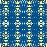 Blauw abstract ornament naadloos patroon Stock Afbeeldingen
