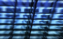 Blauw Abstract Patroon Stock Foto's