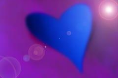 Blauw & mauve hart Stock Fotografie