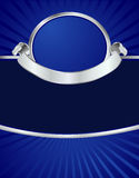 Blauw & Zilveren Menu Royalty-vrije Stock Foto