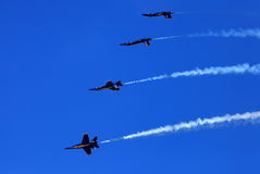 Blauw Angel Airshow in Robins AFB Stock Afbeelding