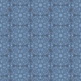Blauw Arabisch naadloos behang Stock Foto's