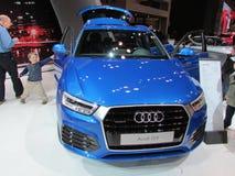 Blauw Audi Q3 2015 Internationale toont Auto van New York Royalty-vrije Stock Afbeeldingen