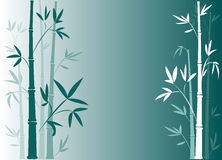 Blauw bamboe Stock Fotografie