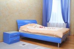 Blauw bed royalty-vrije stock fotografie