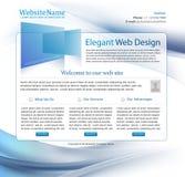 Blauw bedrijfswebsitemalplaatje Stock Afbeelding