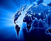 Blauw beeld van bol Stock Afbeeldingen