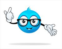 Blauw beeldverhaalkarakter Stock Foto