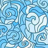 Blauw behang Stock Afbeelding
