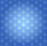 Blauw behangpatroon Royalty-vrije Stock Afbeeldingen